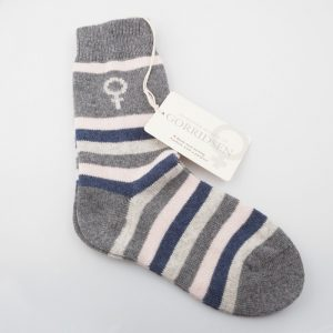 Magnolia Striped Grey/Rose/Indigo